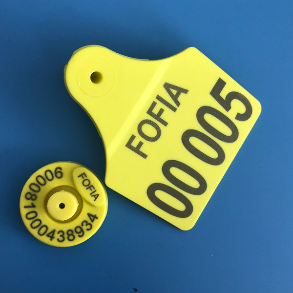 125khz Electronic Cattle Ear Tags , Rfid Livestock Tags Identification