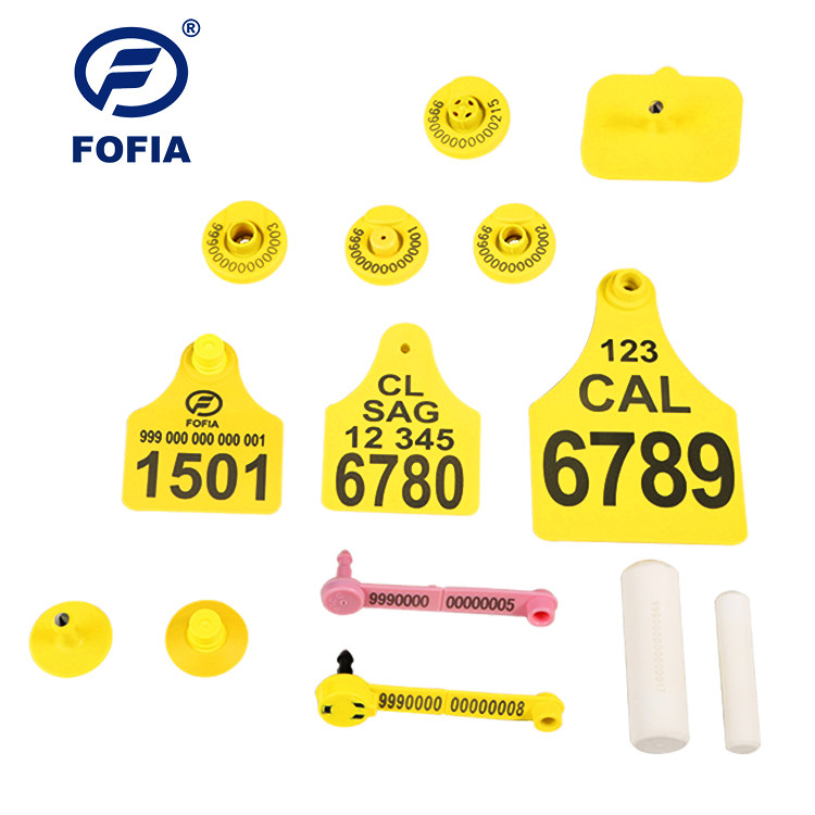 134.2khz Personalized Cattle Tracking Ear Tags